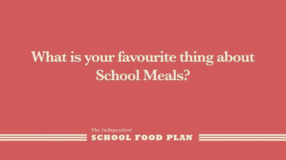 What is your favourite thing about School Meals?